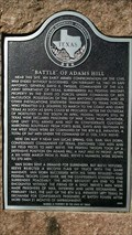 Image for Battle of Adams Hill - Bexar County, TX