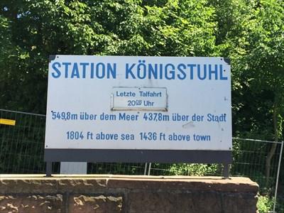 Königstuhl Station Sign, Heidelberg, Germany