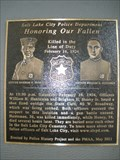Image for Officers Brigham H. Honey Jr. & William N. Huntsman Memorial - Salt Lake City, UT