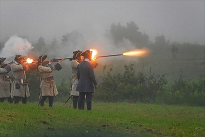 This was part of the re-enactment of the Second Siege (1758).
