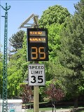 Image for South Temple Solar Speed Sign - Salt Lake City, Utah
