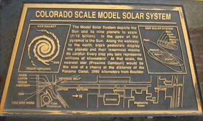 Colorado Scale Model Solar System - Boulder, CO - Solar