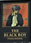 Image for The Black Boy - Pub Sign - Killay, Swansea, Wales.