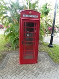 Image for Red Telephone Box - Harvest Caye, Belize