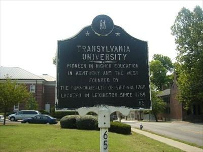 Transylvania University Campus Map.Transylvania University Kentucky Historical Markers On Waymarking Com