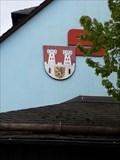 Image for Wappen von Teuschnitz am Sparkassengebäude - 96358 Teuschnitz/Deutschland/BY