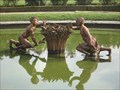 Image for Boy and Girl in the Lizard Pool  -  Versailles, France