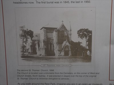 Close up of the photo of the St Thomas Anglican Church.0850, Saturday, 2 December, 2017