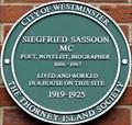 Image for Siegfried Sassoon - Tufton Street, London, UK