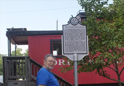 geotrooperz-pp at BOWIE RAILROAD STATION MUSEUM historical marker in Bowie, Prince George