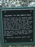 Image for 45th Parallel - Highway 42 near Egg Harbor, WI