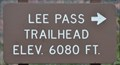 Image for Lee Pass Trailhead (South End) ~ Elevation 6080 feet