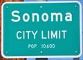 Image for Sonoma ~ Population 10,600