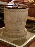 Image for Norman Font -  St James Church - Wick, Vale of Glamorgan, Wales.