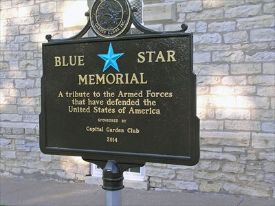 The New Blue Star Memorial marker was dedicated on July 4, 2014