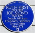 Image for Ruth First and Joe Slovo - Lyme Street, London, UK