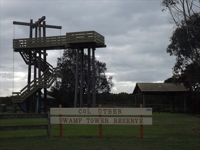 The Tower, with the Reserve sign. 1505, Tuesday, 24 May, 2016