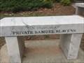 Image for Private Samuel Slavens Bench - Kennesaw, GA