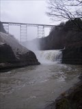Image for BINO - Upper Falls and Train Trestle, Letchworth State Park, New York