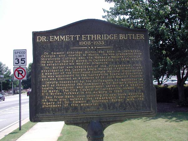 E. E. Butler waymarker
