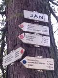 Image for Rozcestník turistických tras - JÁN, CZ