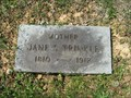 Image for 101 - Jane S. Trinkle - Ordway Cemetery - Bristol, TN