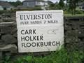 Image for Ulverston via sands milestone, Cartmel, Cumbria