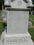 Image for John G. Haskell - Oak Hill Cemetery - Lawrence, Ks
