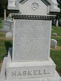 Image for John G. Haskell - Oak Hill Cemetery - Lawrence, Ks