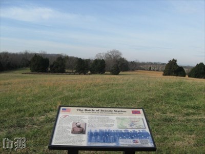 A stone wall stood approximately 500` below this knoll that provided a defensive line for Confederate fire.
