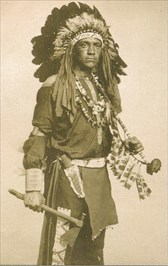 Osage Chief visits St. Charles in tribal paraphernalia - photo by Rudolph Goebel in 1903