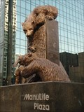 "Image for ""Salmon Run"" Sculpture Manulife Plaza -- Downtown Los Angeles, CA"