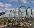 Image for The Hulk Coaster - Satellite Oddity - Orlando, Florida, USA.