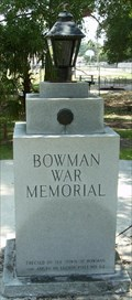 Image for Bowman War Memorial - Bowman, SC