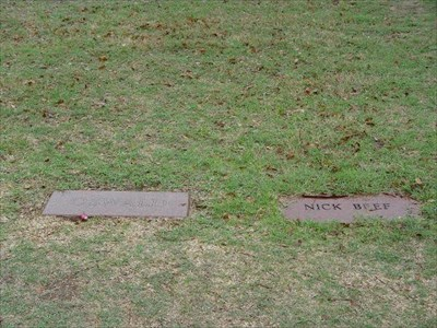 The only marked grave close to Oswalds is that of Nick Beef