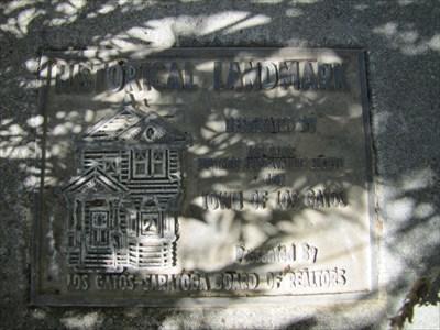 Historical Plaque, Los Gatos, CA