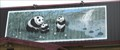 Image for Panda and Waterfall mural, Panda Garden Restaurant - Bloomfield NM