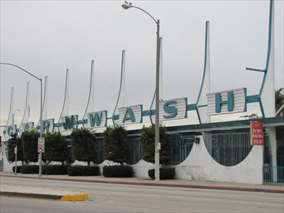 Big Jet Car Wash Sign, Inglewood, CA