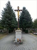 Image for Central Cross On Louny Cemetery, Czechia