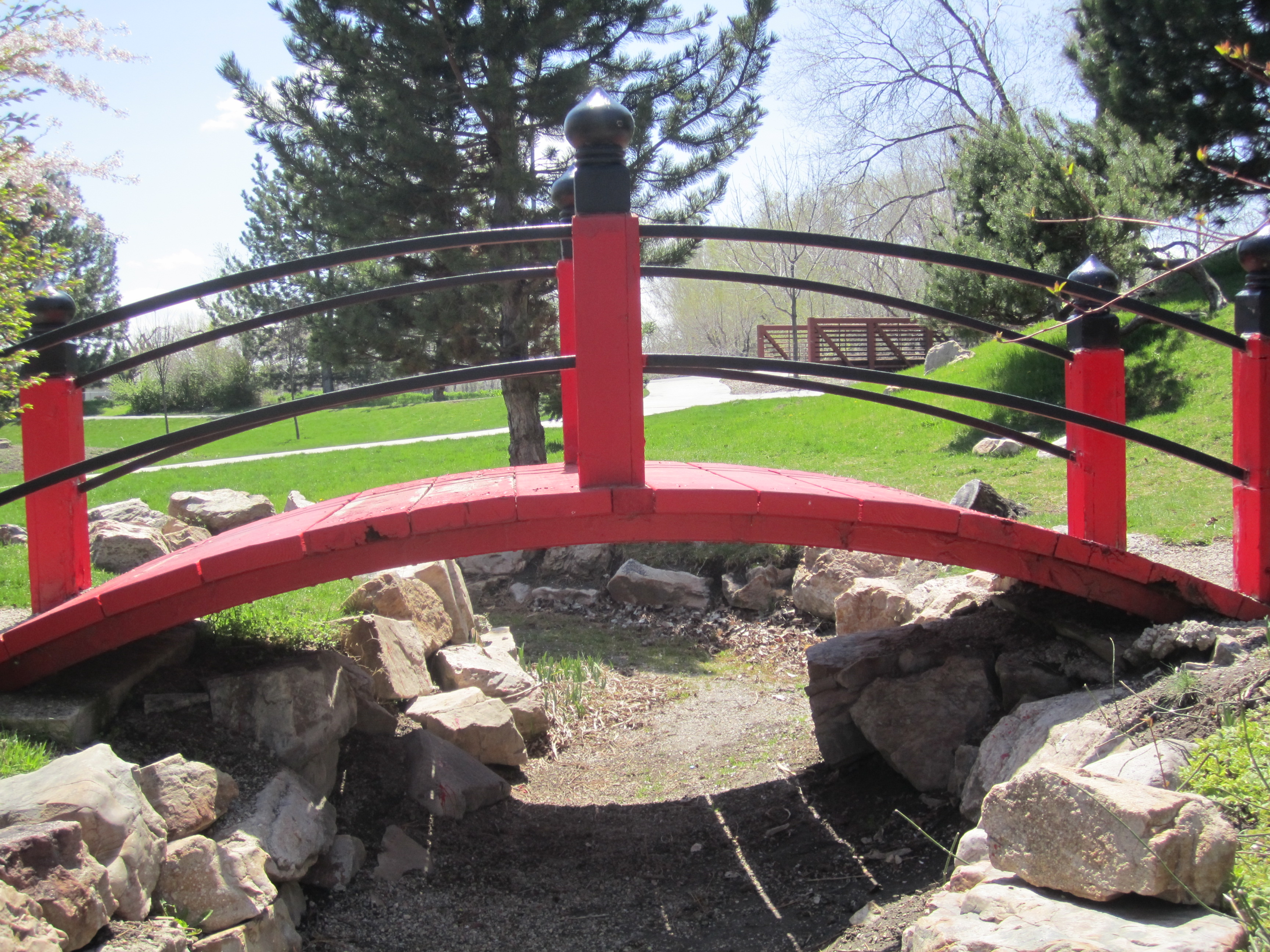 Japanese Garden Bridge, International Peace Gardens   Salt Lake City Utah  Image