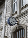 Image for Clock on the railway station Parsberk, BY, Germany