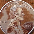 Image for Abe's Giant Penny - Lincoln, Illinois, USA.
