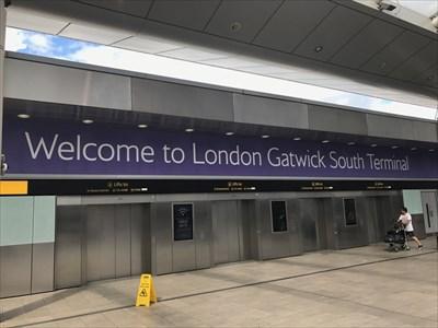 Gatwick South Terminal Sign, Crawley, UK
