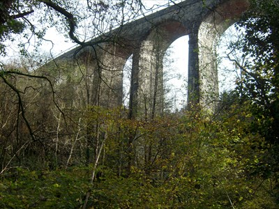 Hengoed Railway Viaduct, Maesycwmmer, Wales