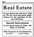 Image for Title Guaranty & Investment Co. - Colville, WA - 1912