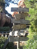Image for Big Thunder Distance and Arrow Sign - Anaheim, CA