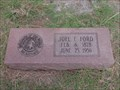 Image for Joel E. Ford - Joy Cemetery - Joy, TX
