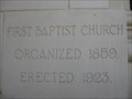 Image for 1923 - First Baptist Church - Tampa, FL