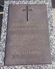 Jesus Christ - 7th Station Of The Cross - Groom, TX.