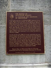 CNHS - Battle of Queenston Heights, Queenston, Ontario - May 2010
